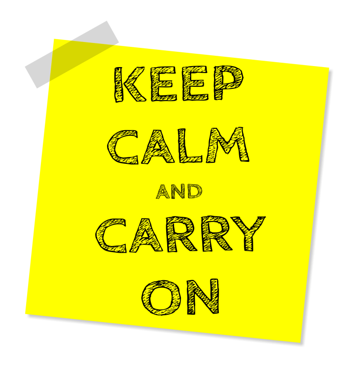 Keep Calm yellow post it