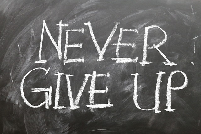 Never Give Up Chalkboard