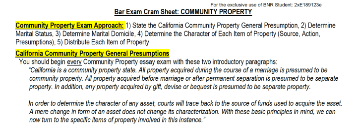 Community Property CS Excerpt